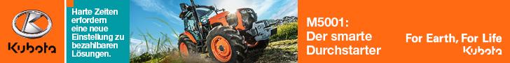 Banner Kubota Traktor M5001